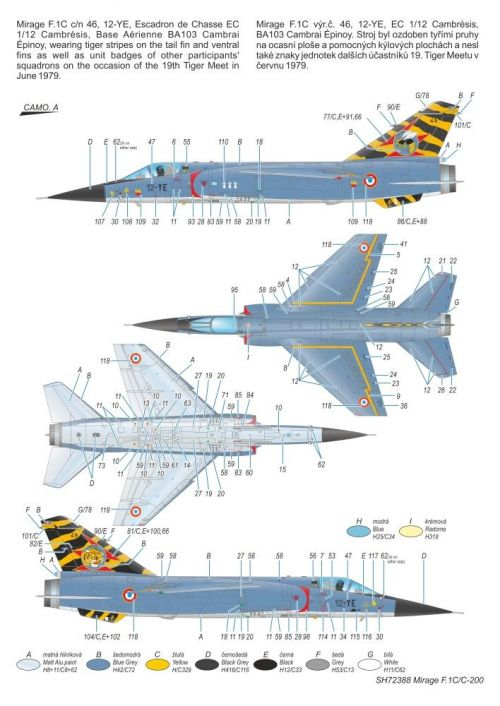 MIRAGE F.1 C/C-200 SPECIAL HOBBY