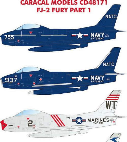 1/48 north-american FJ-2 Fury Part 1 Caracal Decals