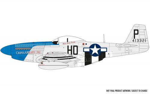 North American P-51D Mustang (filletless tail) Airfix
